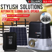 E-GUARD Automatic Solar Sliding Gate Opener 1500kg 6m Motorised Remote Control