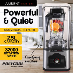 Silver 2.5L Smoothie Juicer Mixer Commercial Blender- PLYC-25SV