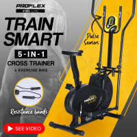 PROFLEX 5in1 Elliptical Cross Trainer & Exercise Bike Equipment Fitness Home Gym