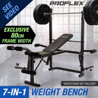 Proflex 7 in 1 Weight Bench Multi Station Home Gym- B300