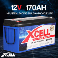 X-Cell 170Ah AGM Deep Cycle Battery 12v - ZLS170 Ultimate Series