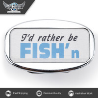 JAXSYN Novelty Tow-bar / Trailer Hitch Cover - I'd rather be FISH'n