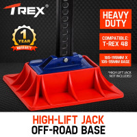 """T-REX 4X4 High Lift Jack Base Plate 4WD Off Road Mud Sand Recovery Hi Farm 48"""""""