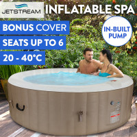 Coffee 6 Person Inflatable Spa