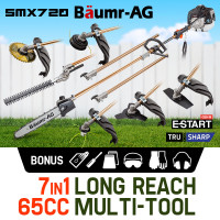 Baumr-AG Pole Chainsaw Brush Cutter Whipper Snipper Hedge Trimmer Saw Multi Tool