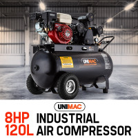 Unimac 120L 8HP Industrial Air Compressor