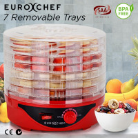 EuroChef 7 Trays Food Dehydrator Jerky Dryer Healthy Maker Fruit Preserver