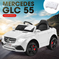 Mercedes Inspired White Kids Ride On Car - GLC 55