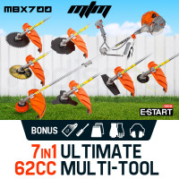 MTM 62CC Brush Cutter Whipper Snipper Trimmer Edger Brushcutter Multi Pole Tool