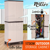 Outdoor Storage Cabinet Cupboard Garden Garage Tool Waterproof Backyard Shed