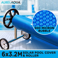 6.0 x 3.2m Swimming Pool Blanket and Pool Cover Roller