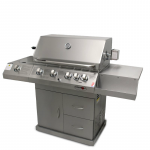 EuroGrille 6 Burner BBQ Kitchen Grill Outdoor Barbeque Gas Stainless Steel