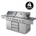 9 Burner Stainless Steel BBQ