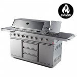EuroGrille 8 Burner BBQ Outdoor Barbeque Gas 100% Stainless Steel Kitchen