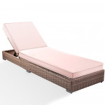 LONDON RATTAN Wicker Premium Outdoor Sun Lounge Pool Furniture Bed Designer
