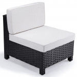 Black 1pc Outdoor Sofa