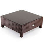 LONDON RATTAN 1pc Coffee Table Wicker Outdoor Sofa Furniture Garden Lounge