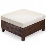 LONDON RATTAN Ottoman Outdoor Wicker Furniture Garden Sofa Lounge Foot Stool