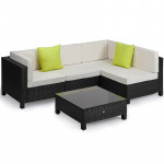 Black 5pc Outdoor Lounge Set