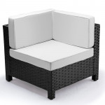 Black Outdoor Corner Sofa