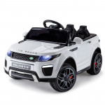 Range Rover Inspired White 12V Kids Ride On Car - Evoque