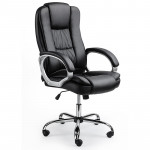 AVANTE Executive Premium PU Leather Office Computer Chair Padded Seat Black