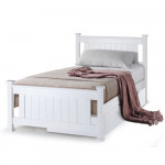 Kingston Slumber White Wooden Single Bed Frame with Storage Drawer