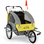 Yellow Kids Bike Trailer & Jogger