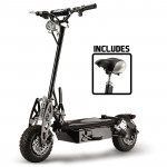 Black Off Road Turbo Electric Scooter - Stealth 1-6