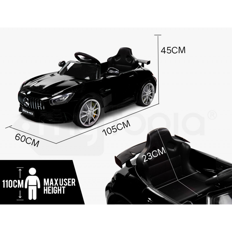 Kids Ride On Car Licensed Mercedes-Benz AMG GTR Electric Toy Battery Remote BK by Rovo Kids