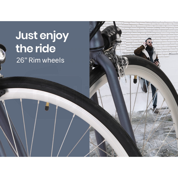 VALK Electric Lithium Powered Fixed Gear e-Bike, Matte Gunmetal by Valk