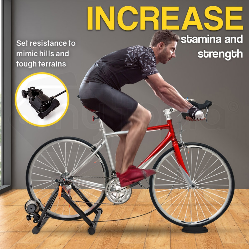 PROFLEX Indoor Bicycle Trainer - Bike Cycling Stationary Magnetic Stand Training by Proflex