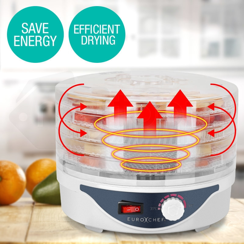 EuroChef 5 Trays Food Dehydrator- Healthy Maker Fruit Preserver Jerky Dryer by EuroChef