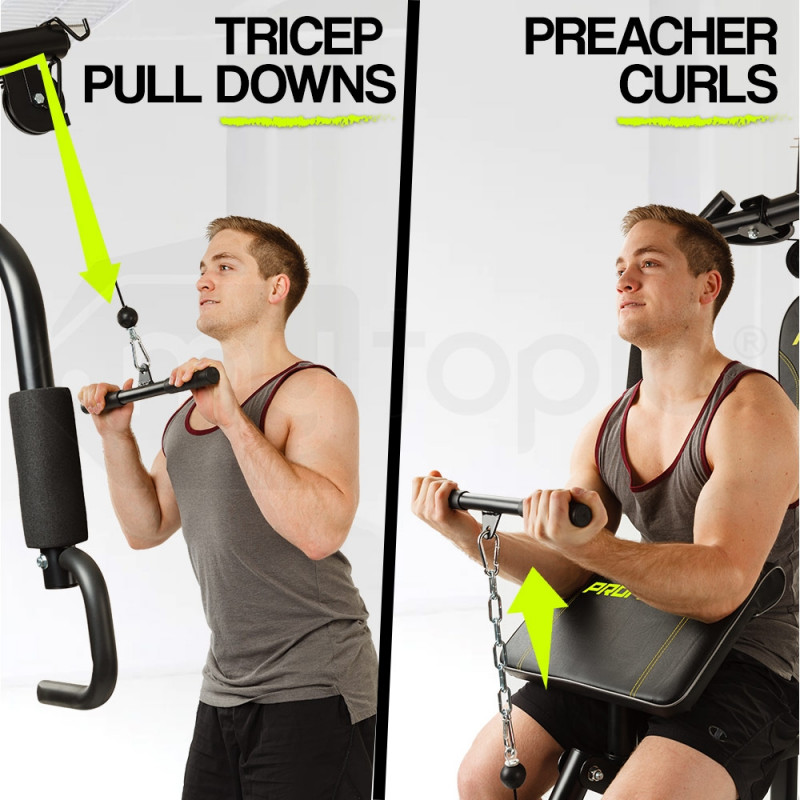Proflex Multi Station Home Gym with 128lbs Plates- M9000 by Proflex