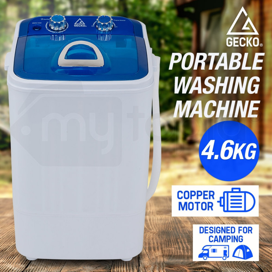 Blue/White 4.6kg Portable Washing Machine - GPW-5RD by Gecko