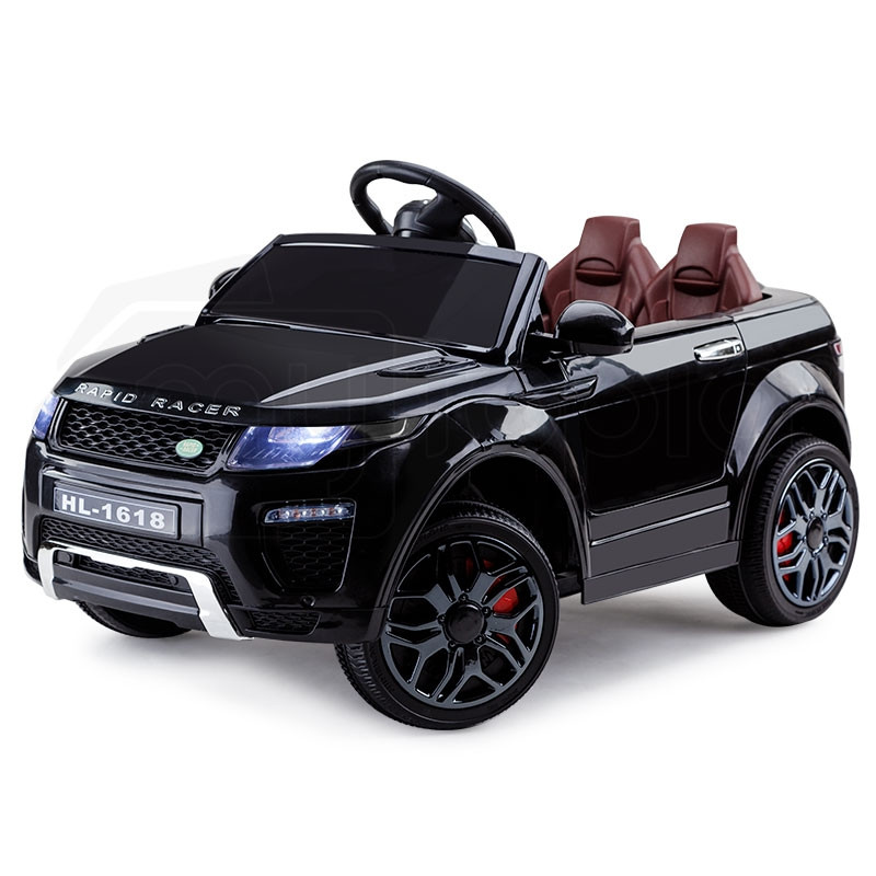 Rovo Kids Black Rapid Racer 12V Remote Control Electric Cars For Kids by Rovo Kids