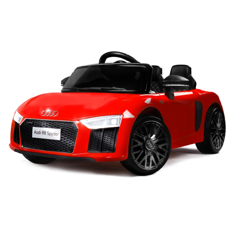 Kids Ride-On Car Licensed AUDI R8 SPYDER Battery Electric Toy Remote 12V Red by Rovo Kids