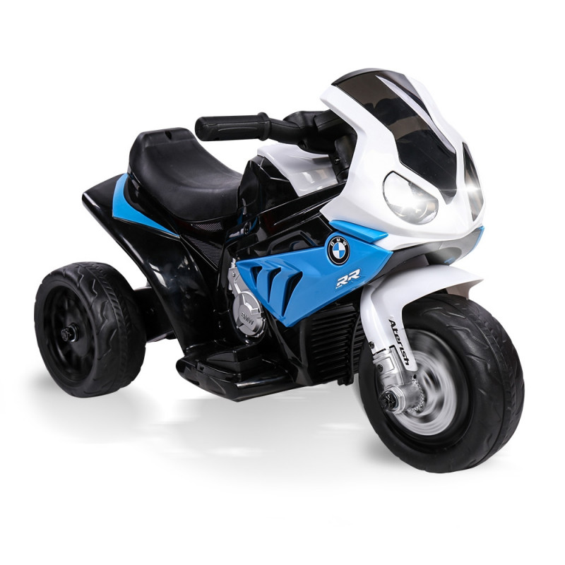 Blue Licensed BMW Electric Kids Ride On Motorbike- S1000RR by Rovo Kids