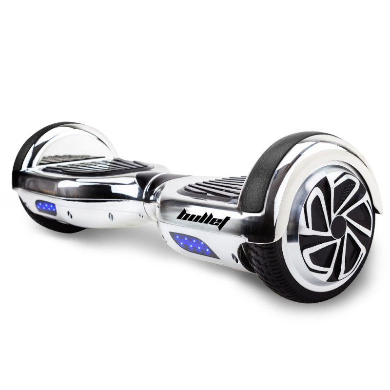 BULLET Hoverboard Scooter Self-Balancing Electric Hover Board Chrome Skateboard by Bullet