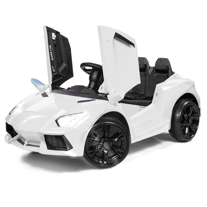 ROVO KIDS Ride-On Car LAMBORGHINI Inspired Electric Toy Battery Remote White by Rovo Kids