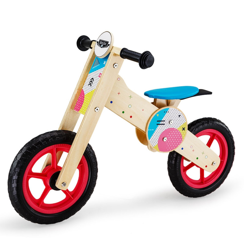 ROVO KIDS Balance Bike Wooden Ride On Toy Bicycle Push Training Outdoor Toddler by Rovo Kids