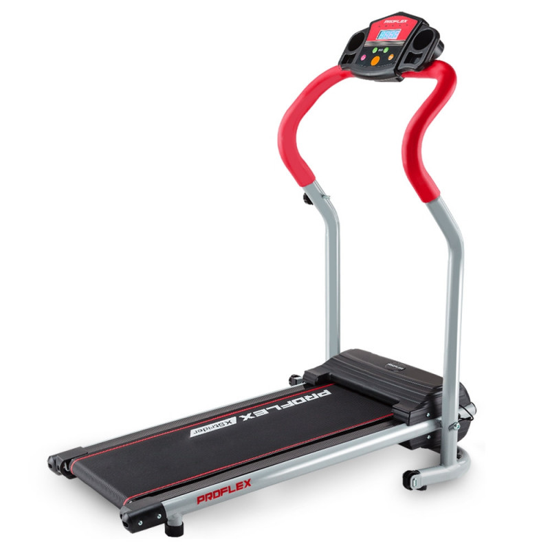 PROFLEX Electric Treadmill Compact Home Gym Exercise Equipment Black/Silver/Red by Proflex