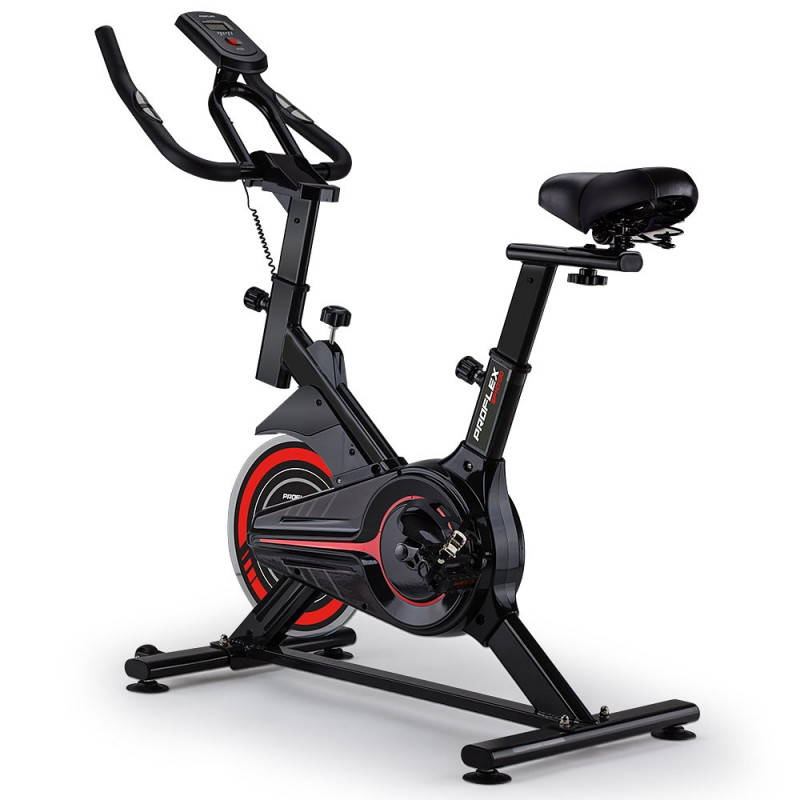 PROFLEX Spin Bike Flywheel Commercial Gym Exercise Home Fitness Red by Proflex