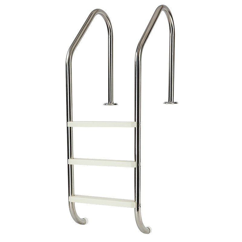 Three wide steps stainless steel swimming pool ladder for Pool ladder