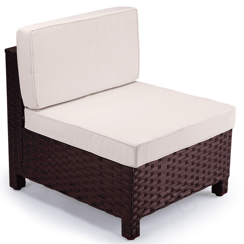 Brown 1pc Outdoor Lounge Sofa by London Rattan