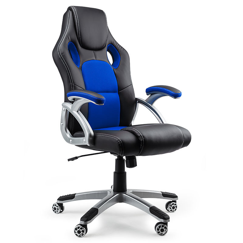 black blue executive racing office chair