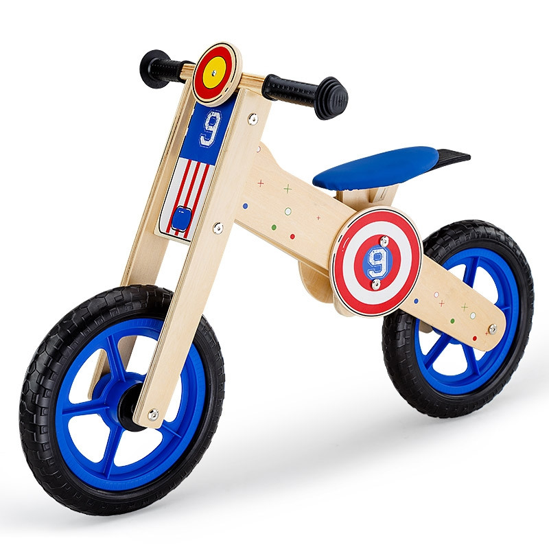 ROVO KIDS Wooden Kids Balance Bike Ride On Toy Push Bicycle Trainer Outdoor by Rovo Kids