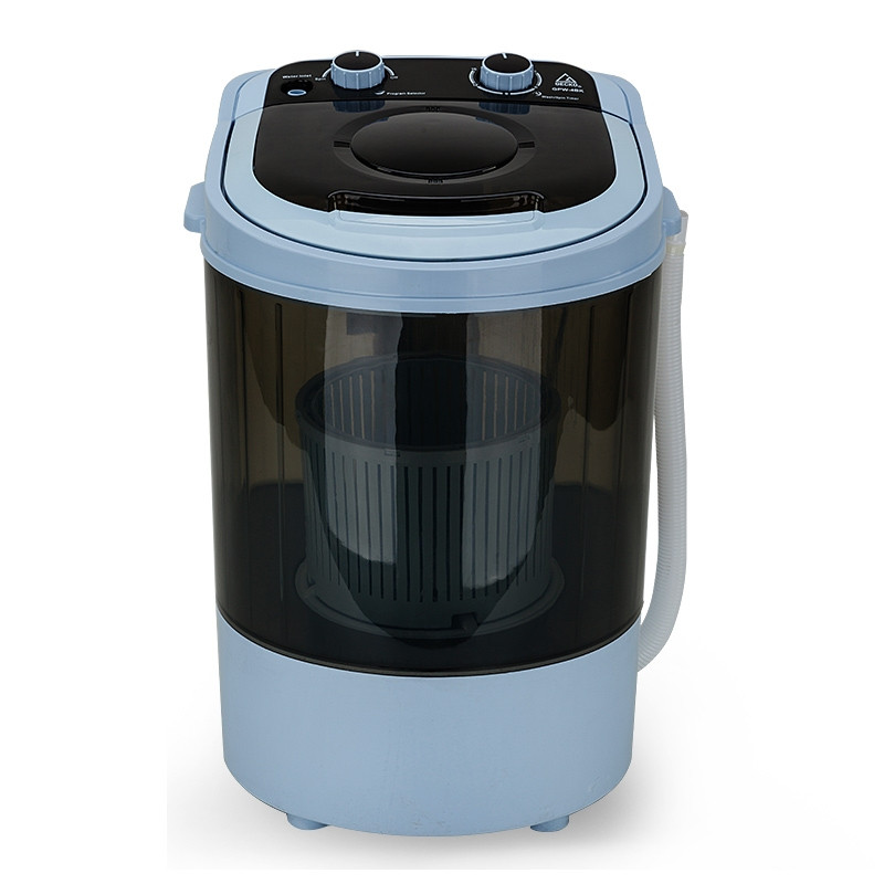 Black 4kg Spin-Dry 2-in-1 Mini Portable Washing Machine - GPW-4BK by Gecko