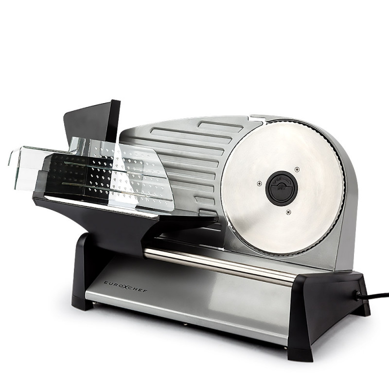 Silver 150W Electric Meat Slicer - MS19S by Euro-Chef