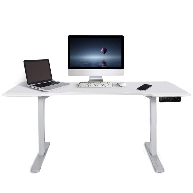AVANTE Sit/Stand Motorised Curve Height Adjustable Desk 150cm Matte White/White by Avante